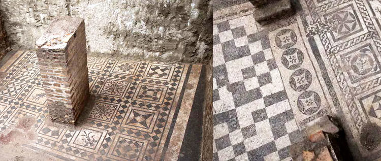 Ancient Mosaics Found In The Subways Of Rome
